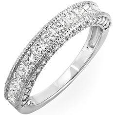 <li>1 2/5ct diamond wedding band</li><li>14k white gold jewelry</li><li><a href='http://www.overstock.com/downloads/pdf/2010_RingSizing.pdf'><span class='links'>Click here for ring sizing guide</span></a></li>