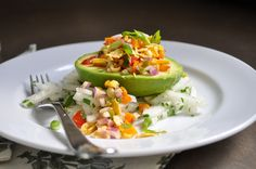 The Ginger Snap Girl: Avocado Cup Salad