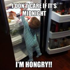 #Hungry-boy and the #fridge