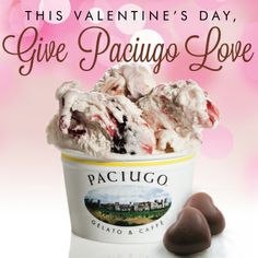 Give happiness to those you love with Paciugo gelato for Valentine's Day!