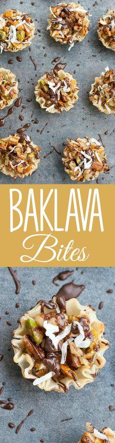 Chocolate Coconut No-Bake Baklava Bites - Everyone always loves this easy no-bake appetizer!