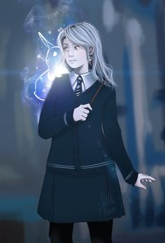 Luna working on her Patronus charm by little-roisin.deviantart.com