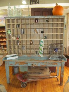 Oak Post Office letter cubby...This was a great piece that has sold and being used as a wine rack.