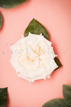 Garden Rose Hair Clip in Cream Rosé Hair, Hair Band, Love Chocolate, Chocolate Cookies, Vintage Accessoires, Rose Hair Clip, Lemon Leaves, Pearl Cream, Lovely Legs