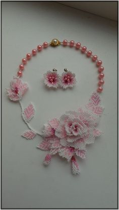 Set Beaded Delicate Rose by Be  