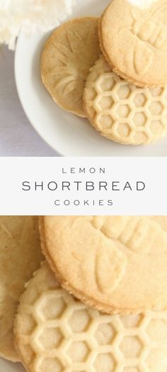 These easy light and refreshing Lemon Shortbread Cookies offer a little crunch hint of lemon and that buttery flavor we all love! Theyre made with just 4 ingredients. Lemon Dessert Recipes, Köstliche Desserts, Easy Cookie Recipes, Lemon Recipes, Baking Recipes, Delicious Desserts, Plated Desserts, French Desserts, Cookie Ideas
