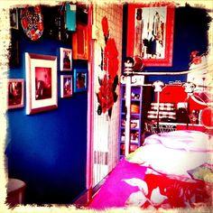 #interiorandhome #inspiration #instahome #interior #interiordecor #interiordesigner #bedroom #colorful #blue #pink #doorcurtain #rose #bed… Interior Decorating, Interior Design, Door Curtains, Villa, Interiors, Colorful, Bedroom, Rose, Pink