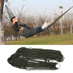 1 Pz dormire amaca hamaca hamac Giardino Portatile Viaggi di Campeggio Esterna mobili Mesh Amaca altalena Sleeping Bed Nylon HangNet