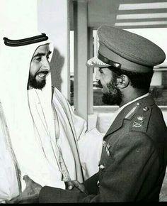 HM Sultan Qaboos bin Said ( Sultan of Oman ) with Shaik Zaid bin Sultan the late president of UAE