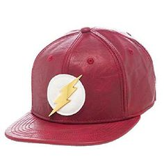 Bioworld Official- DC Comics Flash- Faux Leather Snapback Hat #TheFlashClothing #TheFlashGifts #TheFlashGiftIdeas #TheFlashFan