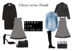 Classic Versus Trendy by riversandrunways on Polyvore featuring Yves Saint Laurent, Alexander Wang, Stuart Weitzman and Gianvito Rossi