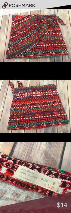 Girls zara red pattern skirt size 8 only worn once ZARA GiRLS CASUAL COLLECTION Red Pattern skirt   • size 8   • Excellent condition! Only worn once   • Smoke/pet free Zara Bottoms Skirts