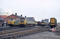 Railway Herald :: Imaging Centre :: at Gloucester Horton Road MPD Electric Locomotive, Diesel Locomotive, Gloucester England, Uk Rail, Disused Stations, British Rail, Train Pictures, Train Engines, Rolling Stock