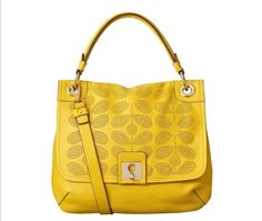 Hello Sunshine, Hello Sixties Stem Punched Leather Handbag by Orla Kiely Like, repin, share!  Thanks :)