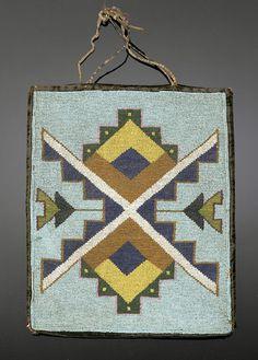 Plateau Beaded Flat Bag, - Cowan's Auctions