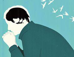 Joey Guidone - Depression Disease. Mental disease, Mental disorder, Sadness, Brain, Editorial illustration, Concept art