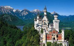 Neuschwanstein Castle.  Bavaria. Germany