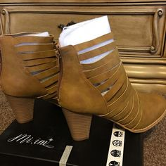 """Flash Sale! Three Bird Nest Strappy Boho Booties Neutral beige color. Back zip. Outside heel height- 3 1/2"""". Inside heel height- 2 1/2"""". Amazing quality vegan leather. Perfect for all seasons!  Brand new by Three Bird Nest! Three Bird Nest Shoes Ankle Boots & Booties"""