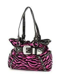 58f6397017bcb Large Western Belt Buckle Purse Zebra Print Handbag Turquoise Trim W  Rhinestones