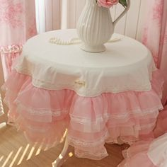 Dream BeautyDream hazy * 6 layers of lace yarn * overweight workers * white * round tablecloths * custom-ZZKKO
