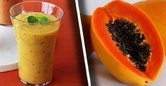 Desinflama el vientre, limpia el colon y pierde peso con este licuado de papaya y avena