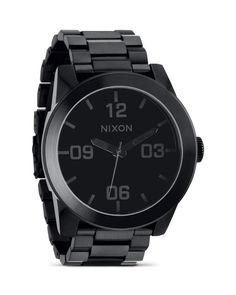 Nixon The Corporal Stainless Steel All Black Watch, 48mm
