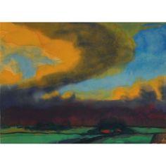 EMIL NOLDE Marschlandschaft mit Gewitterhimmel (Marsh Landscape with Thundery Sky, 1930)