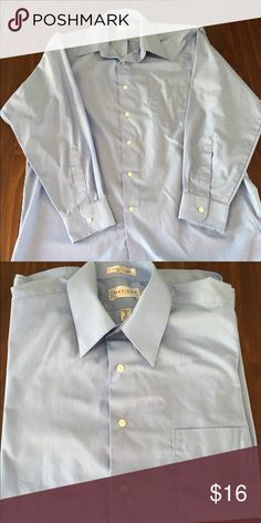 Men's dress shirt Perfect condition, no flaws. Light blue and looks great with any pants! Size is 16/32-33, large. Van Heusen Shirts Dress Shirts