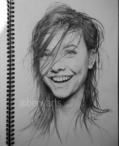 Image may contain: 1 person Cool Art Drawings, Pencil Art Drawings, Art Sketches, Pencil Portrait, Portrait Art, Moleskine Sketchbook, Sketch Inspiration, Pencil Illustration, Easy Paintings