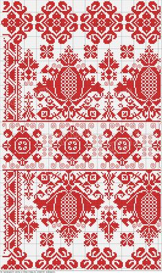 goadthings:  Pomegranate cross stitch pattern.  Check out this site for more beautiful patterns.