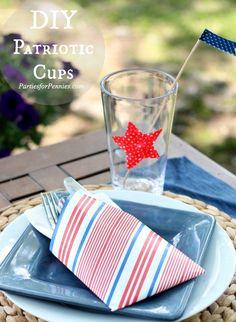 DIY Patriotic Cups