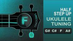 Half Step Up ukulele tuning - Online ukulele tuner Ukulele Tuning, Step Up, Cleaning, Home Cleaning