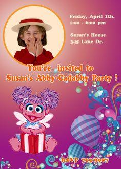 Abby Cadabby Invitations birthday invitations Printable Invitations diy Invitations Children custom Invitations