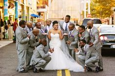 silver tie white shirt grey pants wedding - Google Search