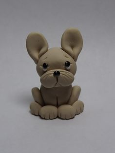 French Bulldog Clay Figurine by ClayCreationsbyLaura on Etsy, $8.00