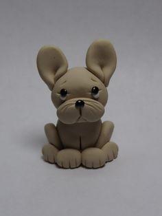 French Bulldog Clay Figurine by ClayCreationsbyLaura on Etsy, $8.00