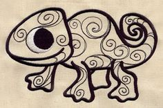 Chameleon | Urban Threads: Unique and Awesome Embroidery Designs