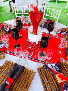 Black, red and white Swazi traditional wedding decor by Shonga Events Zulu Traditional Wedding, Traditional Decor, African Wedding Cakes, African Traditional Dresses, Wedding Decorations, Table Decorations, Wedding Venues, Wedding Ideas, Wedding Planner