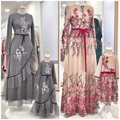D Fashion Textile Bandung Abaya Fashion, Modest Fashion, Fashion Dresses, Modest Dresses, Girls Dresses, Moslem Fashion, Dress Brokat, Mother Daughter Fashion, Hijab Look