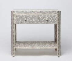 Furniture   Made Goods Inlay Mother of Pearl Bedside Table