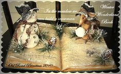 Primitive In the Meadow Winter Wonderland Book Pattern-Primitive Pattern,Snowman,Mouse,Christmas Book,Old Road Primitives,Craft Pattern,