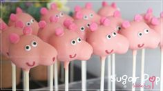 peppa pig cake pops tutorial - Google Search