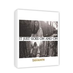 It just goes on and on #Canvas #Labyrinth #Movie #Jim #Henson #David #Bowie #Gifts #Merchandise #Film 80's #Retro www.labryinthmovie.co.uk