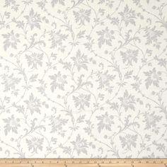 Downton Abbey Celebrations Metallic Tapestry Large Swirl Gray from @fabricdotcom