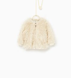 Image 1 of Faux fur bomber jacket from Zara