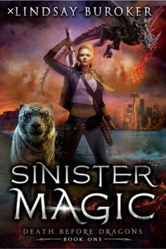 And, I'm now listening to Sinister Magic by Lindsay Buroker #currentlyreading #amreading #LindsayBuroker #audiobook #urbanfantasy Fantasy Authors, Fantasy Books, Fantasy Fiction, High Fantasy, Fantasy Series, Dragon Series, Best Sci Fi, Fantasy Dragon, Magic Book
