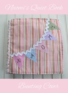 Personalized Bunting Quiet Book Cover