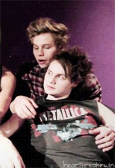 """Luke and Mikey ~ """"And in year nine, we hated each other."""" Oh my god!!! It's finally a GIF!!! ♡ I ship Muke! ♡"""