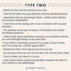 Likes, Comments - Enneagram Enneagram Type 2, Enneagram Test, Infj Type, Infj Personality, Esfj, Get To Know Me, W 6, Thing 1, Healthy Relationships