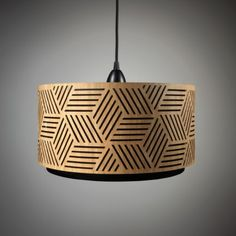 pendant lamp / lampshade out of wood / timber, laser cut from min-jon. Made in Germany